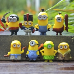 8Pcs Set Despicable Me 3 The Minions Action Figure PVC Toys Cute Movie Characters Mini Figurines