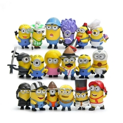 18Pcs Set Despicable Me 3 The Minions Action Figure PVC Toys Cute Movie Characters Mini Figurines