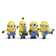 4Pcs Set DESPICABLE ME 2 The Minions PVC Action Figures Model Mini Figurines Toy