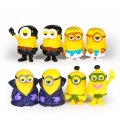 8Pcs DESPICABLE ME 3 The Minions PVC Action Mini Figure Toys 3.6-4.5cm/1.4-1.7inch Tall