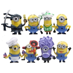8Pcs DESPICABLE ME 2 The Minions PVC Action Mini Figure Toys 5-6cm/2-2.4inch Tall