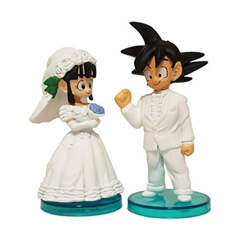 Dragon Ball Goku ChiChi Wedding Action Figures PVC Toys 2Pcs Set