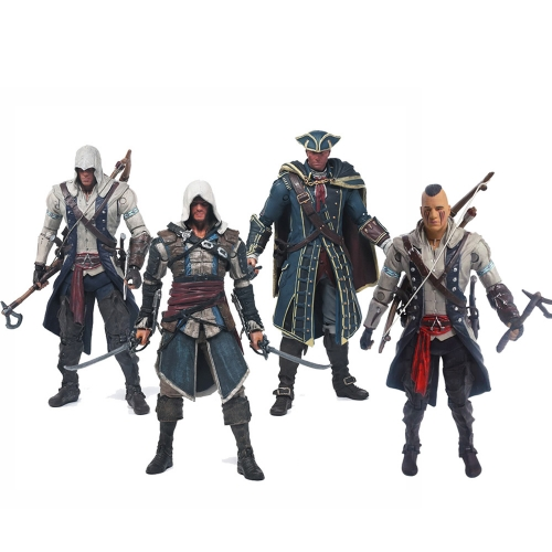 Assassin's Creed Connor Edward Haythem Kenway Action Figures PVC Figure Toys 15cm/6inch
