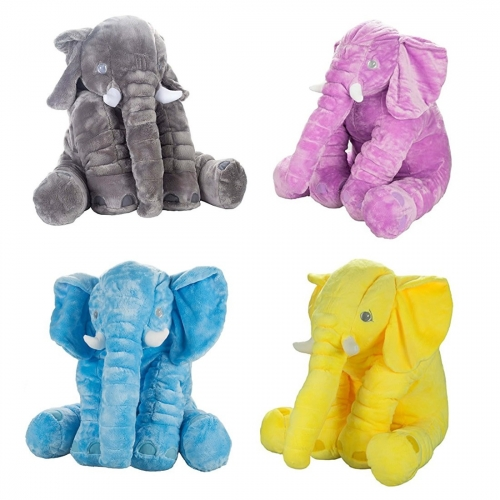 Plush Elephant Toy Baby Soft Back Cushion Stuffed Animal Pillow