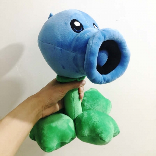 Plants vs Zombies Frozen Peashooter Plush Toy Big Size 30CM/12Inches