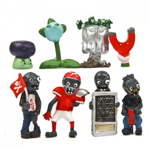 8Pcs Set Plants vs Zombies PVC Figures Toys 5th Generation 1.5-3inch Tall