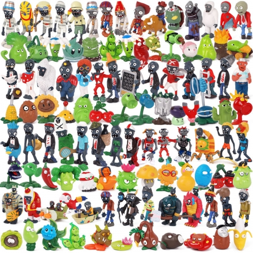 Plants Vs Zombies PVC Action Figures Collectable Model Toys For Kids Gift 1.5-3Inches Tall