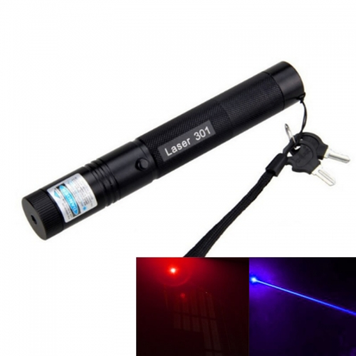 200MW Red / Purple Laser Pointer Pen with Safety Lock 301