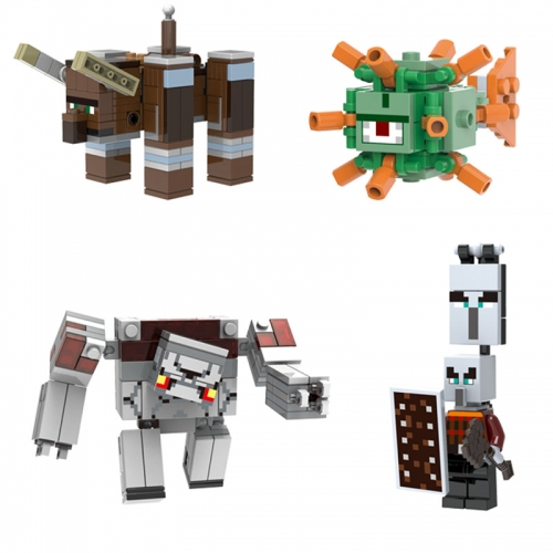 4Pcs Set Minecraft Lego Compatible Building Block Toys Mini Figures Large Size 81022