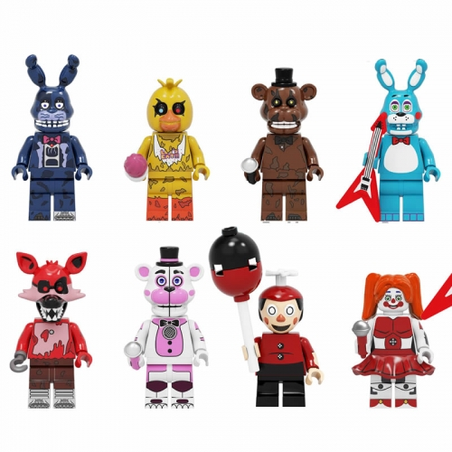 8Pcs Set Five Nights At Freddy's Lego Compatible Block Mini Figure Toys KF6121